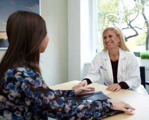 Dr. Elisa Port consults with a Patient at the Dubin Breast Center