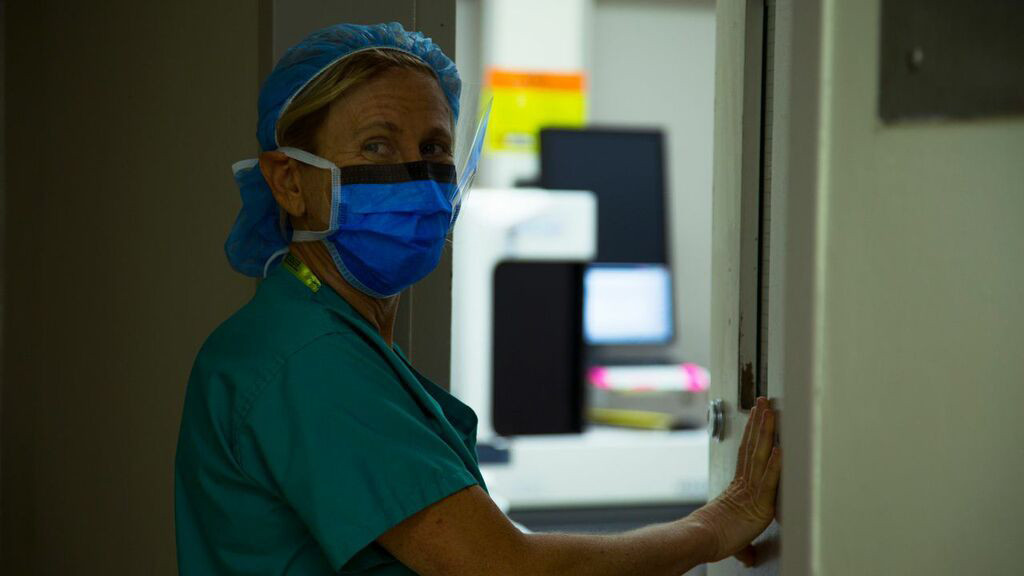 Doctor Elisa Port leaving surgery